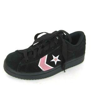 Converse Black Pink Size 7.5 Women's Athletic Shoe